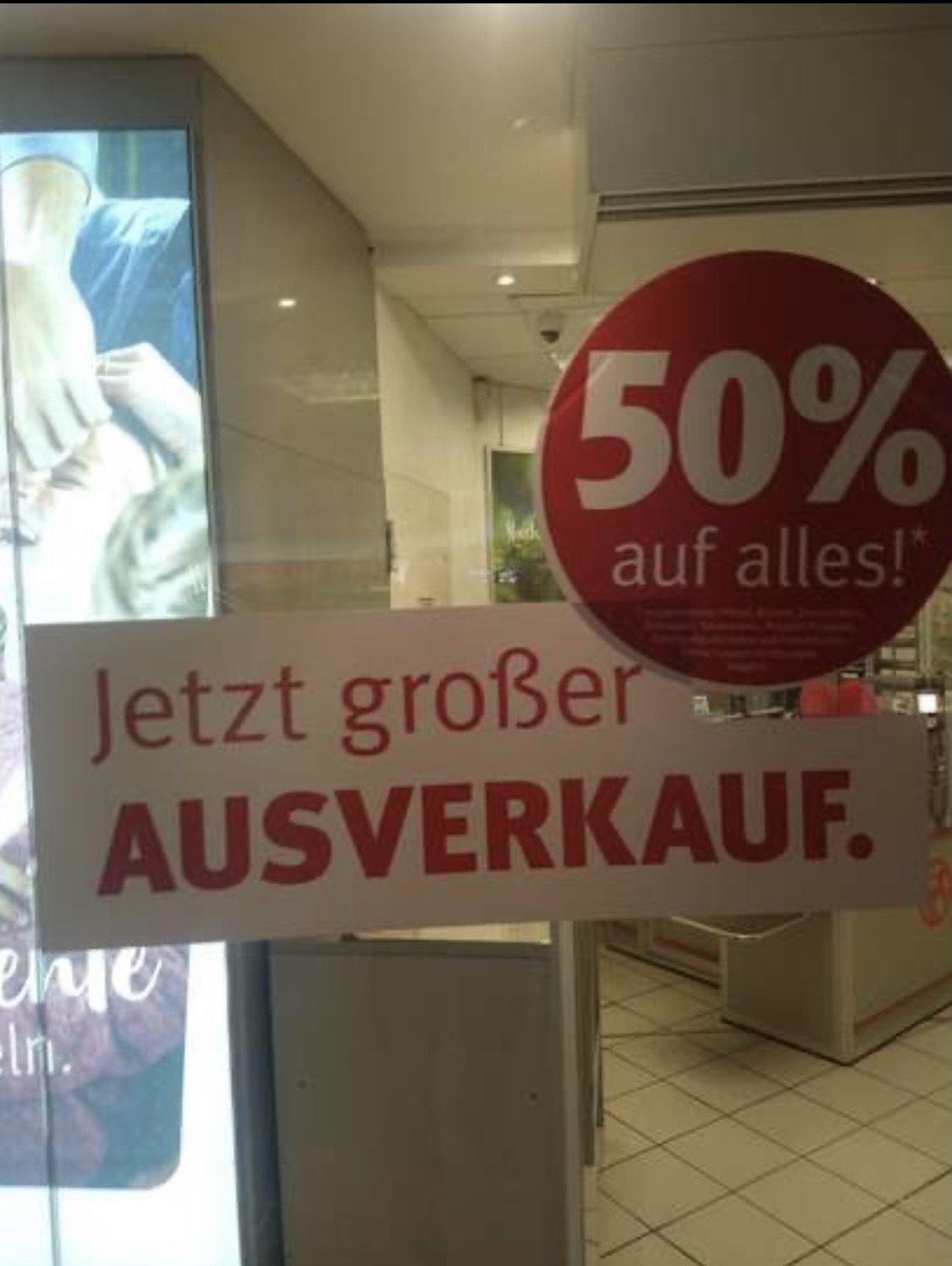 [Lokal Rossmann Hannover Hbf] 50% auf alles
