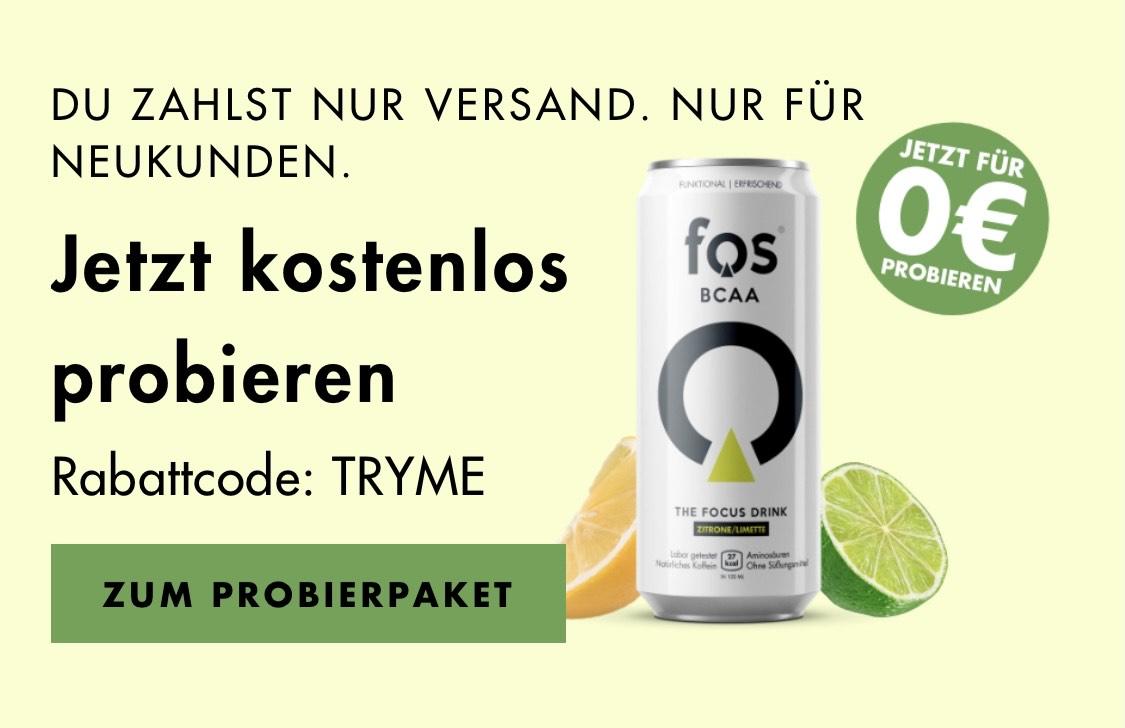 FOS Drinks 4x0,33l gratis/ nur 4,99 Versand zahlen