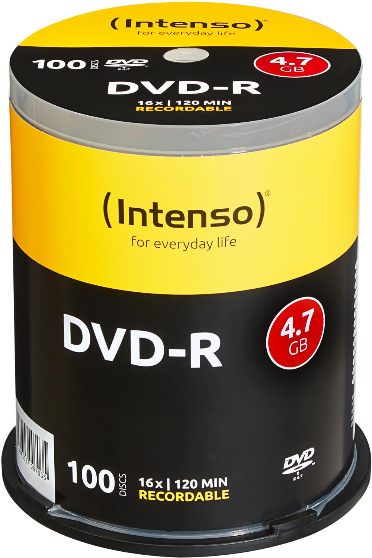 Intenso DVD-R 4,7GB 120min 16x 100er Spindel