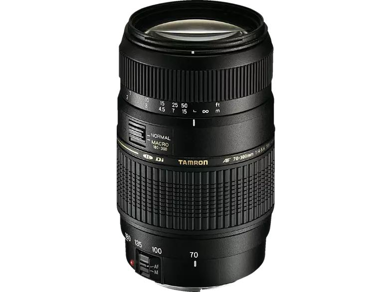 TAMRON AF 70 mm - 300 mm f/4-5.6 Di, LD (Canon EF-Mount, Schwarz) + Fototasche + UV Filter für 125€