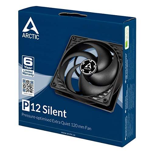 ARCTIC P12 Silent - 120 mm Gehäuselüfter optimiert für statischen Druck, Case Fan, besonders leise (Amazon Prime)