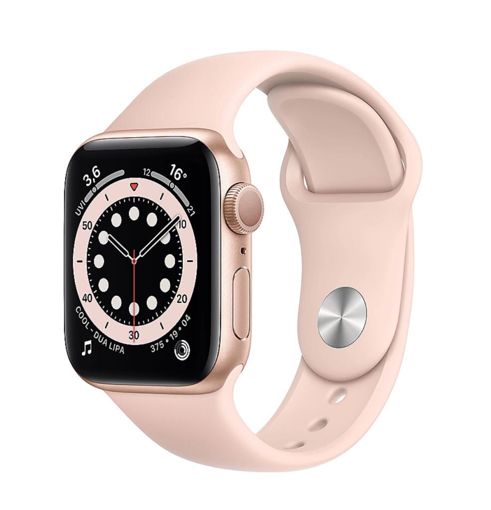 Apple Watch 6 | 40mm | GPS | Gold Sportarmband Sandrosa