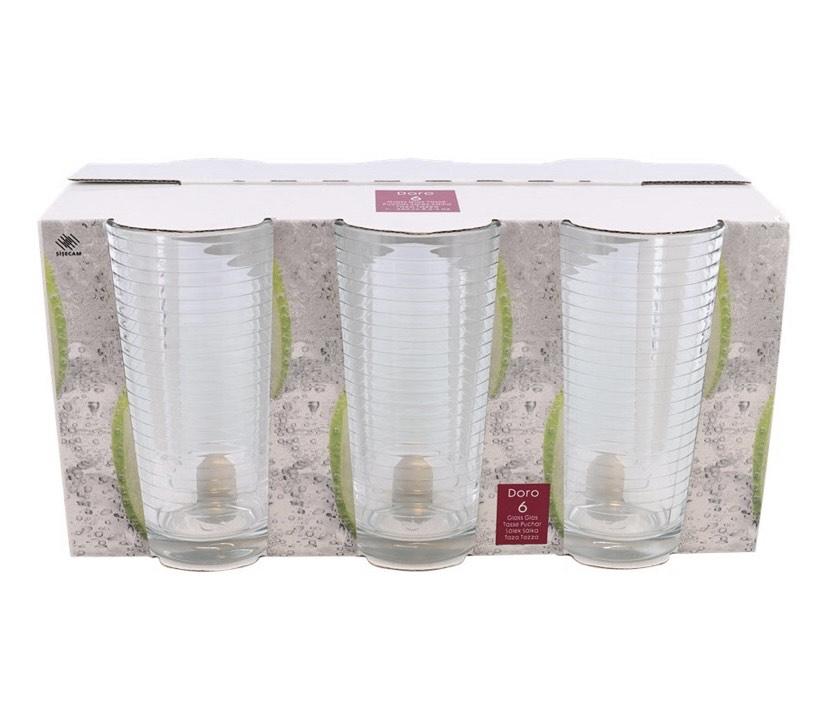 [ACTION] 6er Set 270ml Longdrink Gläser 0,33€ pro Glas (zwei Varianten)