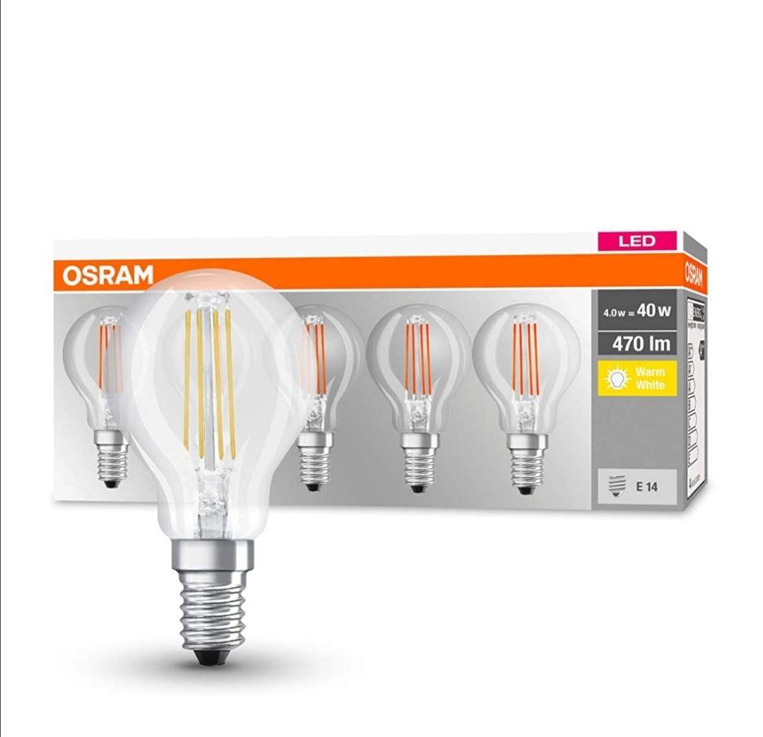 5er Set Osram E14 LED Filamemt 4 W 2700K