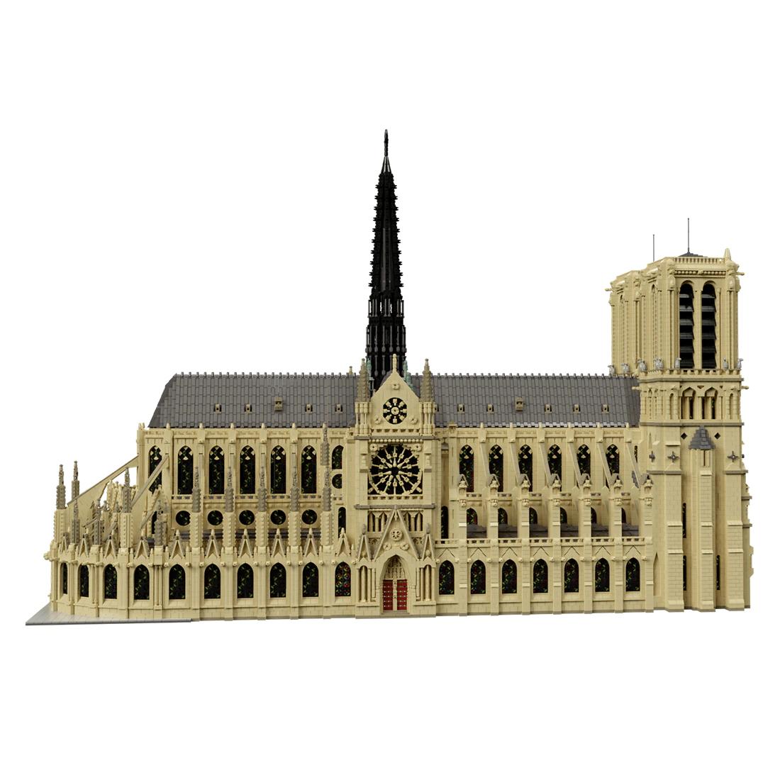 Klemmbaustein MOC - Notre Dame mit 63000+ Steinen, lizensiert von Stefano Mapelli