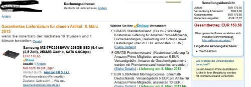 [AMZ-WH] Samsung MZ-7PC256B/WW 256GB SSD (6,4 cm (2,5 Zoll)