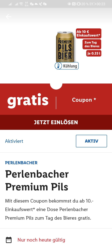 Gratis Bier ab 10 Eur Umsatz in der Lidl Plus app