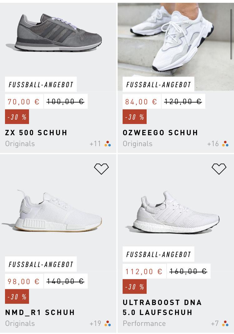 [APP] Adidas Fußball Sale bis zu 30%