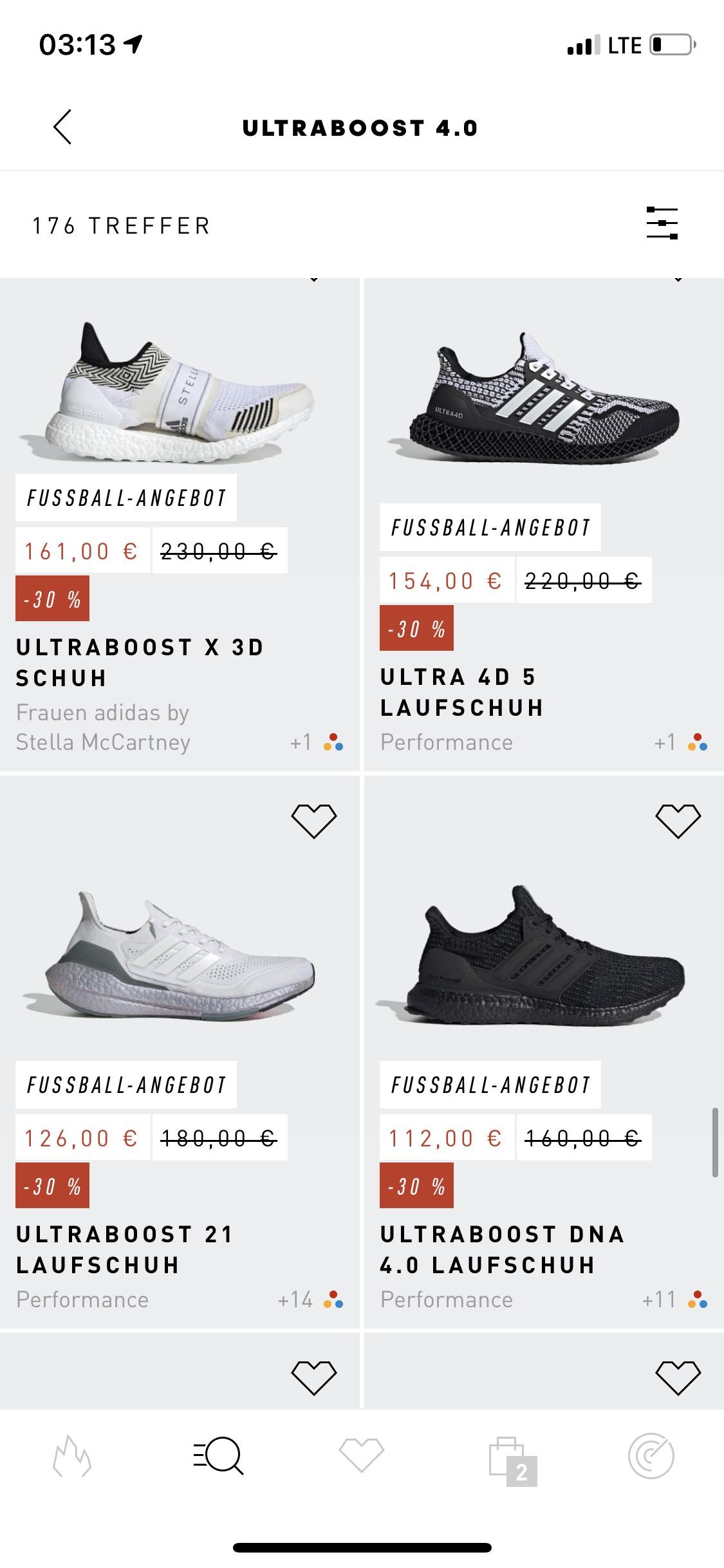 Preisfehler: 30% auf alles in der Adidas-App