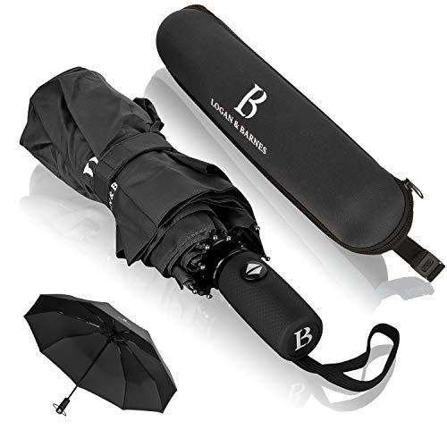 [Amazon] Automatik Regenschirm versch. Griffe sturmfest bis 140 km/h - Taschenschirm mit zertifizierter Teflon-Beschichtung