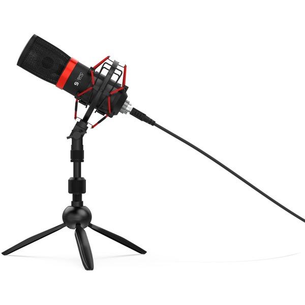 SPC Gear SM950T Streaming USB-Mikrofon (Klappstativ, Stoßdämpferhalterung, Pop-Filter)