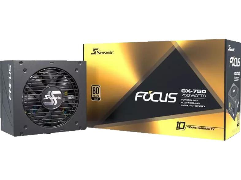 SEASONIC FOCUS-GX-750 PC Netzteil 750 Watt, vollmodular, 80+ Gold, 10 Jahre Garantie [Media Markt/Saturn]