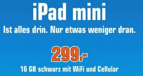 Ipad Mini Wifi + Cellular 16GB [Lokal Saturn Braunschweig]
