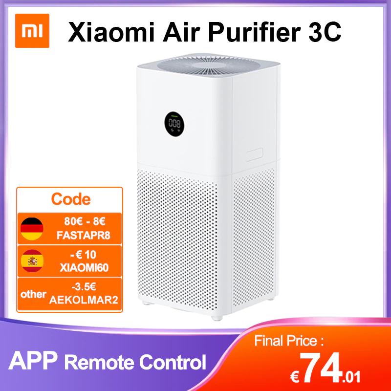 Xiaomi Air Purifier 3C: Luftreiniger mit LED Display - Versand aus EU (App Control, Alexa / Google Assistant, 320m³/Stunde, 61dB)