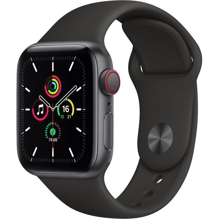 Apple Watch SE LTE Space Grau 40mm Sportarmband Schwarz für 279,65€ (Cdiscount)