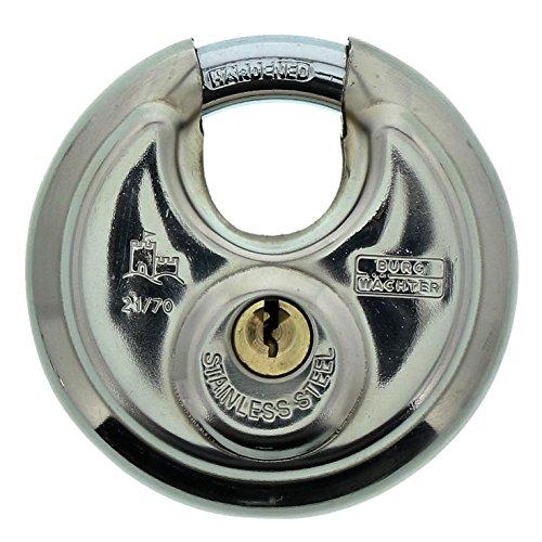 Rundbügelschloss Burg Wächter Circle 21 70 SB 9 mm Bügelstärke, Edelstahl - Amazon Prime