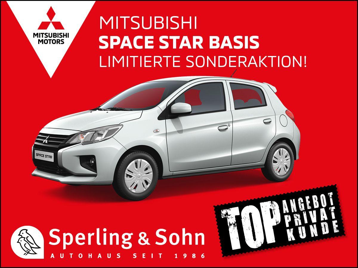 [Privatleasing] Mitsubishi Space Star BASIS 1.2 Benziner 71PS/ 52 kW, mtl. 59,90€ + 790€ ÜF (eff. mtl. 81,84€), LF 0,55, GF 0,74, 36 Monate