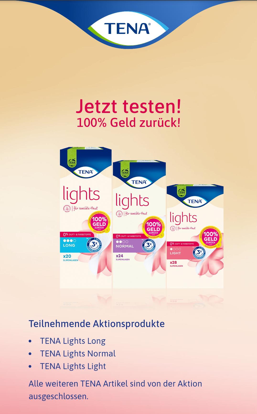 [GzG] TENA lights gratis testen