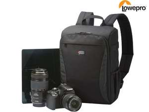 "Lowepro Foto-Rucksack Format 150 (32.8 x 24 x 14, Wetterfestes Obermaterial, Verstellbare Innenfächer, 10""-Tablet-Fach) [iBOOD]"