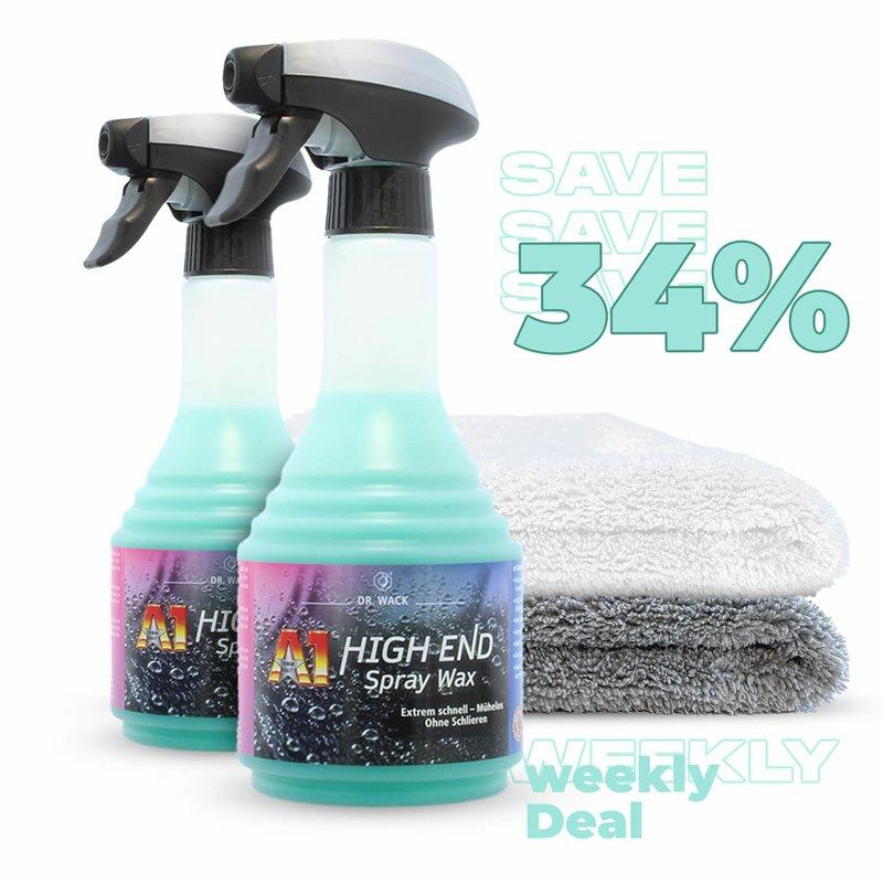 2x DrWack High End Spray Wax + 2 Tücher