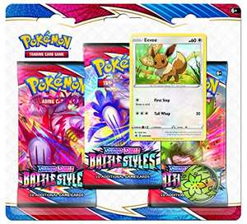 [Amazon Prime] Pokemon Schild und Schwert 3er Pack Blister Battle Styles Englisch