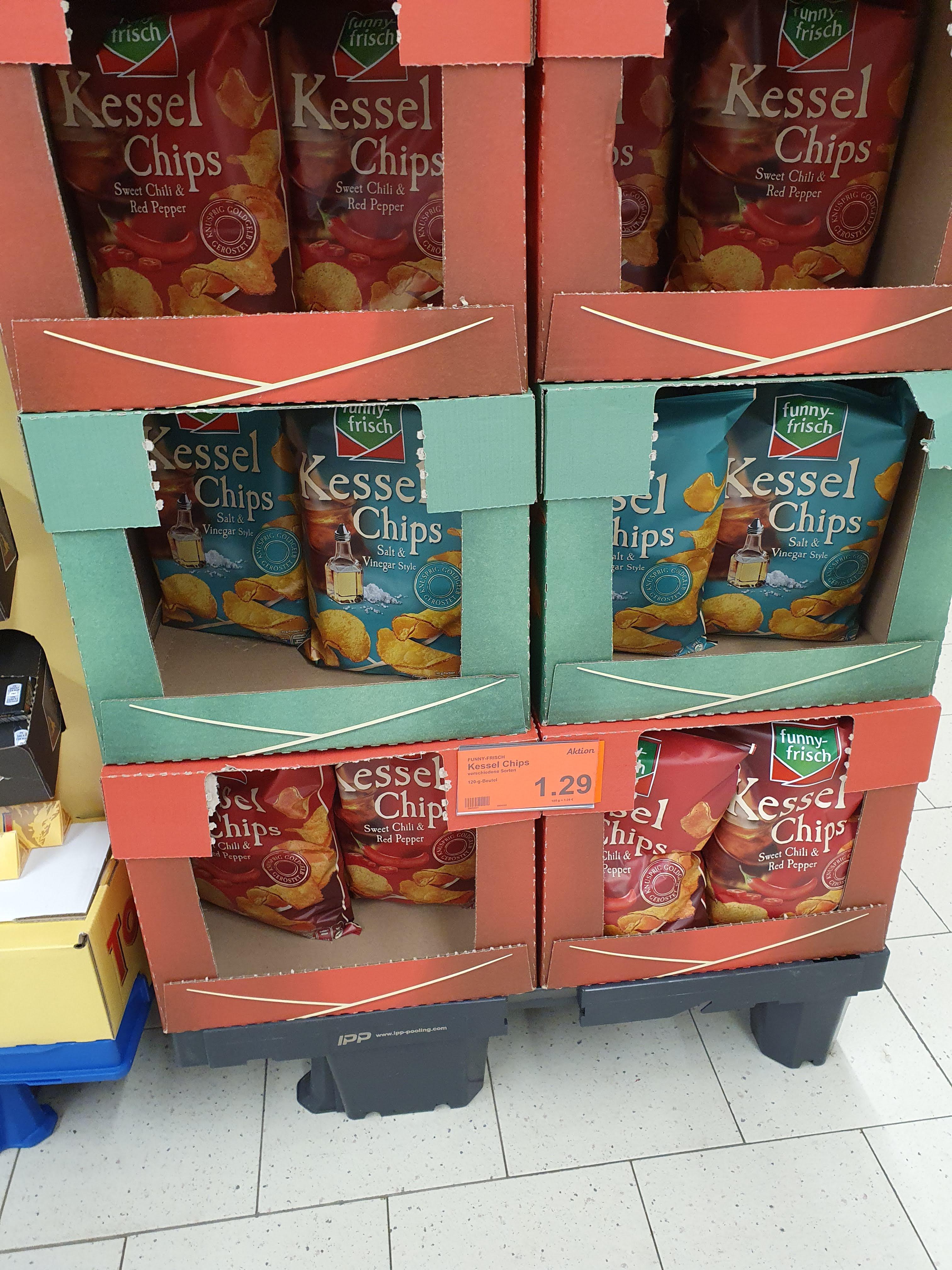 Funny Frisch Kessel Chips für 1,29€ bei Aldi Nord