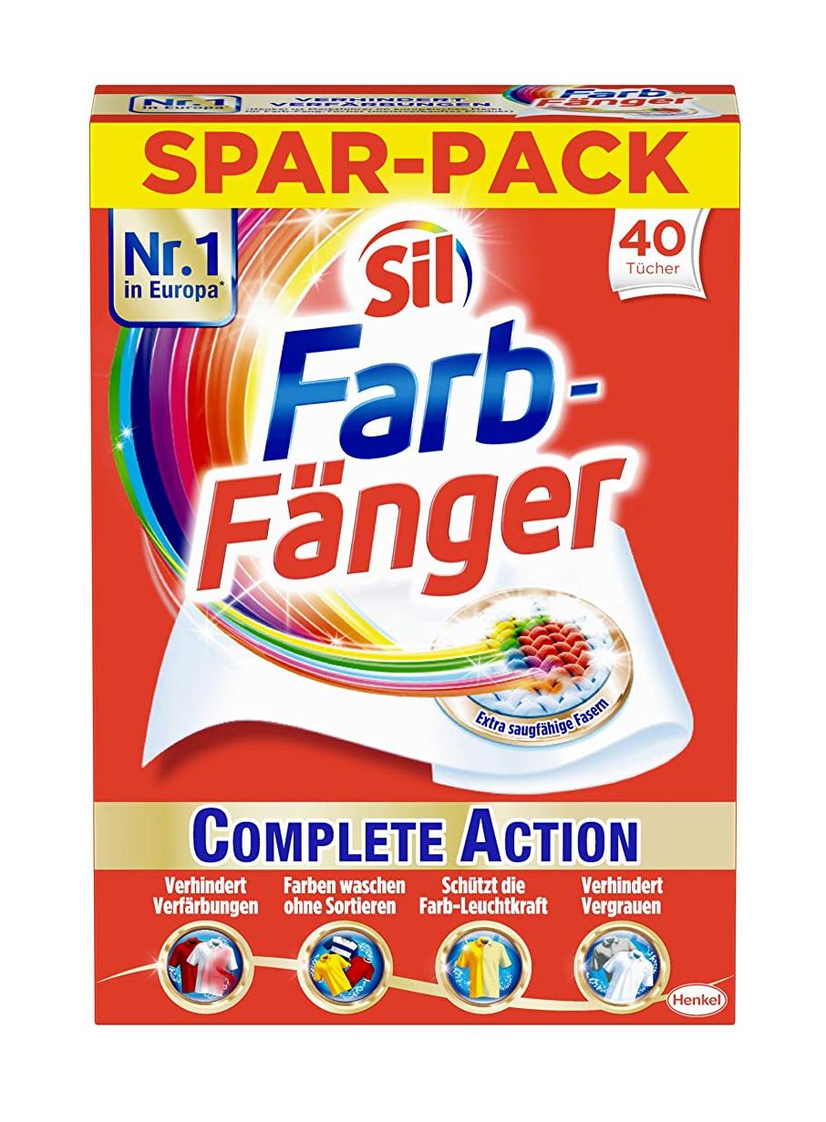 Sil Farb-Fänger Tücher Complete Action, schützen vor Verfärbungen der Wäsche (1 x 40 Stück) 1,66€ mit spar-abo 15% !