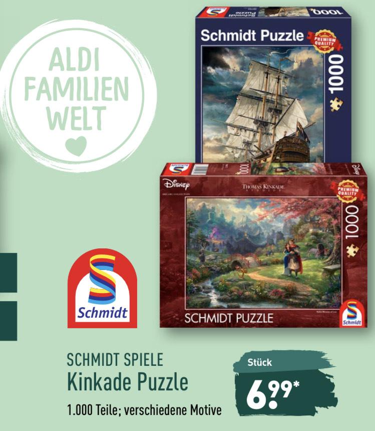 [ALDI Nord] Ab 29.04. - Schmidt Spiele Thomas Kinkade 1.000 Teile Puzzle