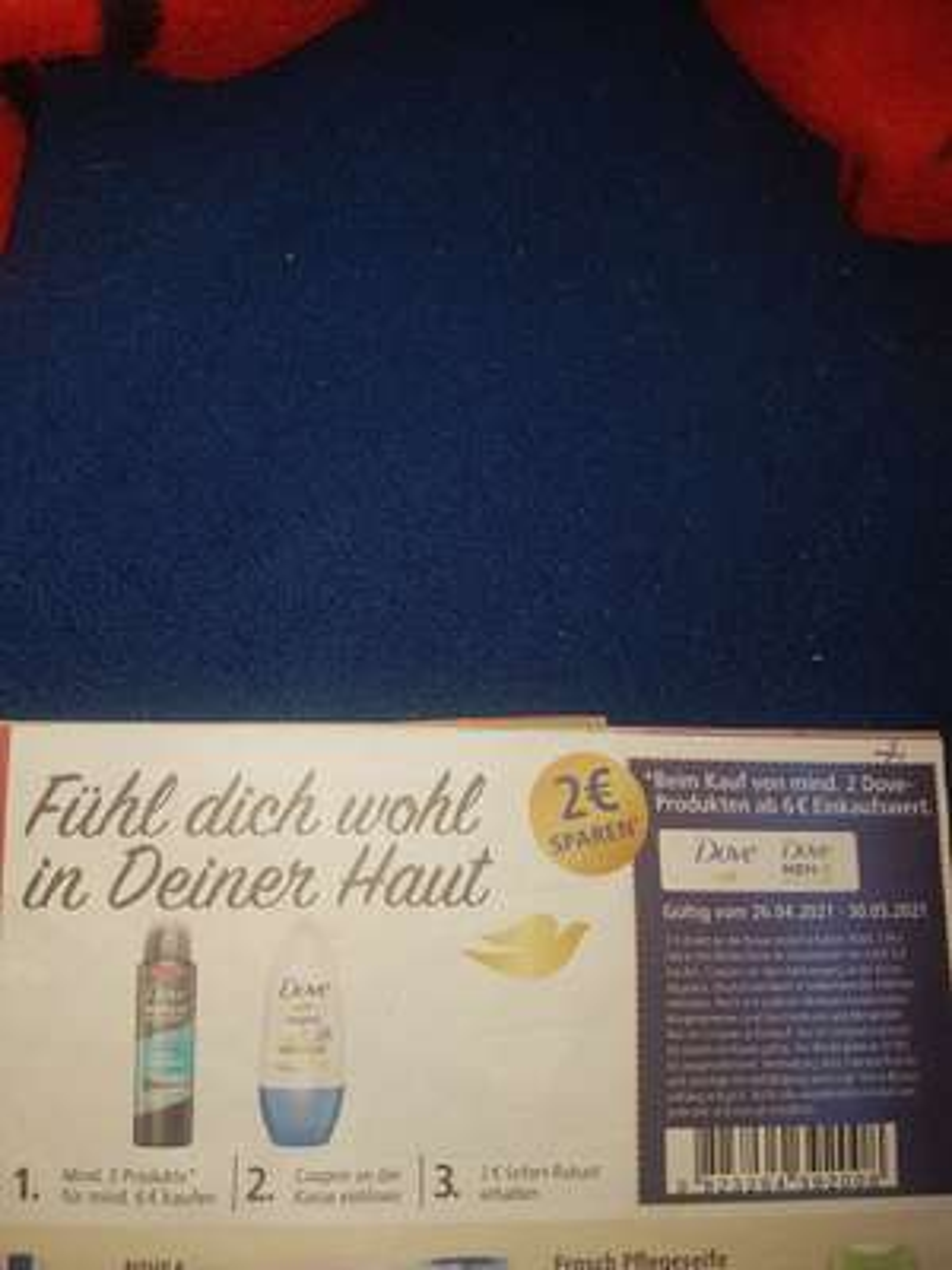 REAL- 2 € Sofortrabatt bei Kauf von mind. 2 Dove- Produkten (Gesamtwert mind. 6€).