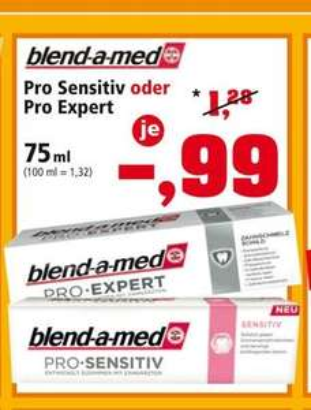 [Thomas Philipps bundesweit] blend-a-med Pro Sensitive oder Pro Expert für 0,99 €