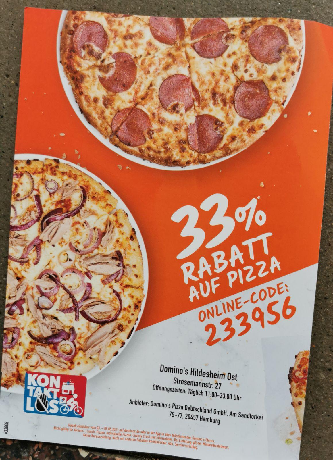 Domino's Pizza Spar Alarm 33%* 03.05 - 09.05