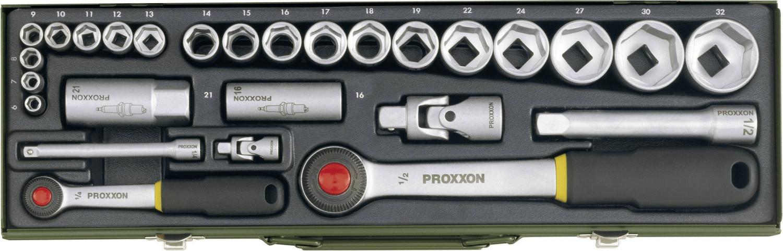 """Proxxon Industrial Steckschlüsselsatz 27teilig 23020 metrisch 1/4"""" + 1/2"""" 27teilig für 44,15€ [SMDV]"""