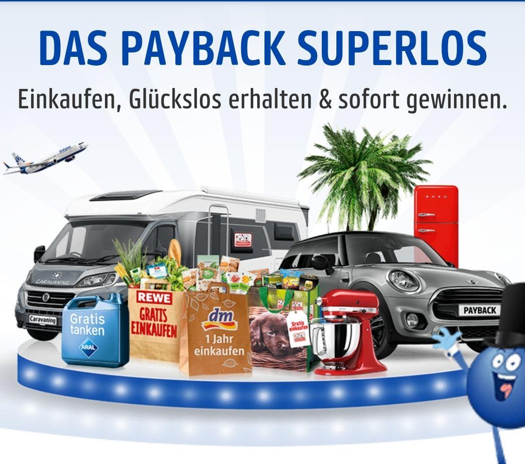 Das Payback Superlos, Glückscode und Sofortgewinne, z.B. 30-fach auf verschiedene Warengruppen bei dm