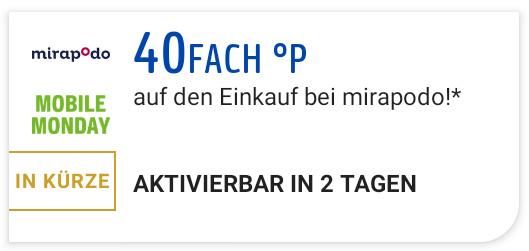 [Payback] 40fach Punkte bei mirapodo am Mobile Monday (26.04.)