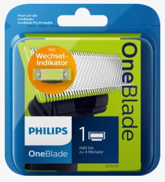 [dm] 5€ Philips OneBlade dm App Gutschein, 1 Klinge=5,95€ (belibig viele/Einkauf)