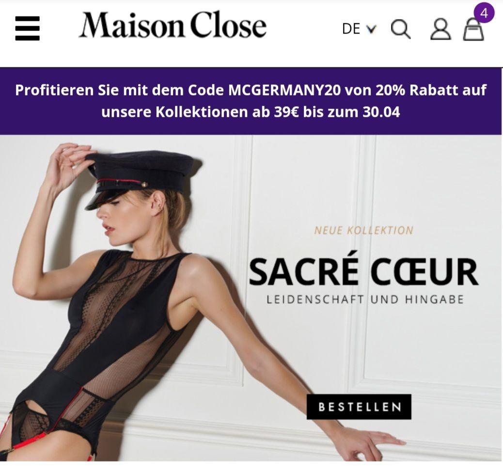 Maison Close 20% Gutscheincode