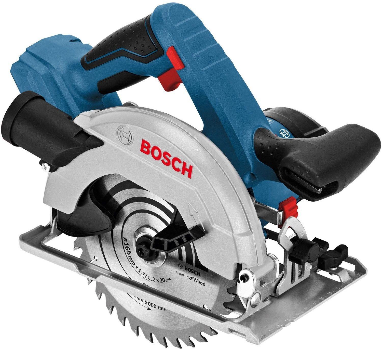 Bosch Professional Akku-Handkreissäge GKS 18V-57 Solo (Sägeblatt-Ø: 165 mm, Schnitttiefe: 57 mm, im Karton)
