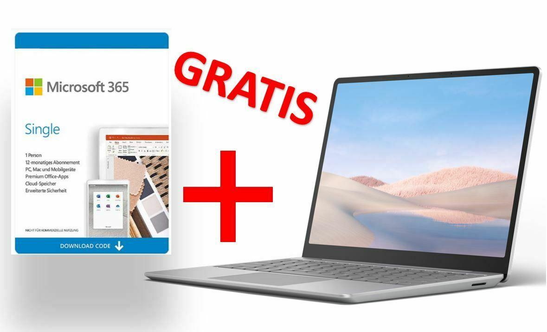 "Microsoft Surface Laptop Go + Office 365 Single (12.4"", 1536x1024, Touch, i5-1035G1, 8/128GB, USB-C PD, USB-A, Fingerprint, Win10S, 1.11kg)"