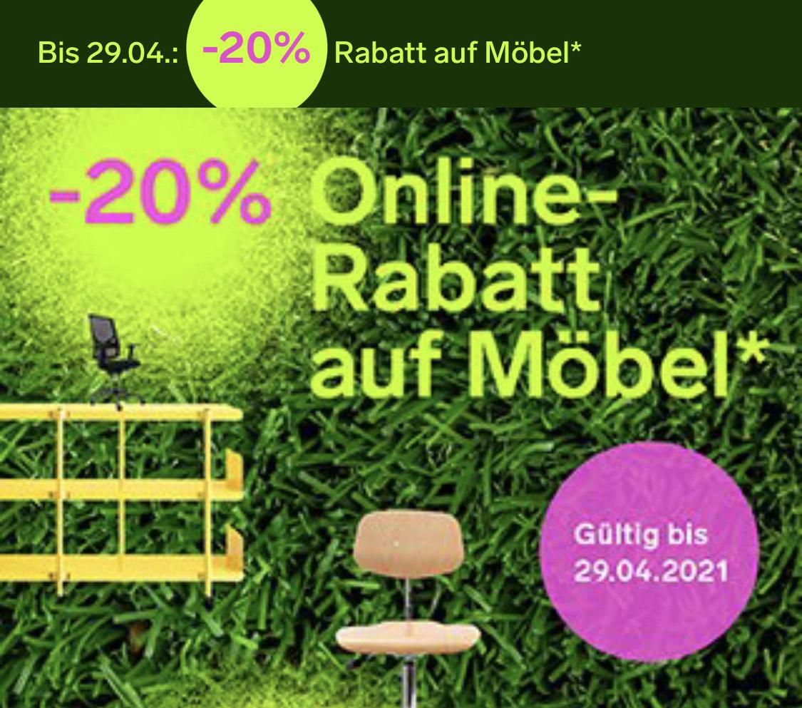 20% Rabatt auf Möbel bei Modulor