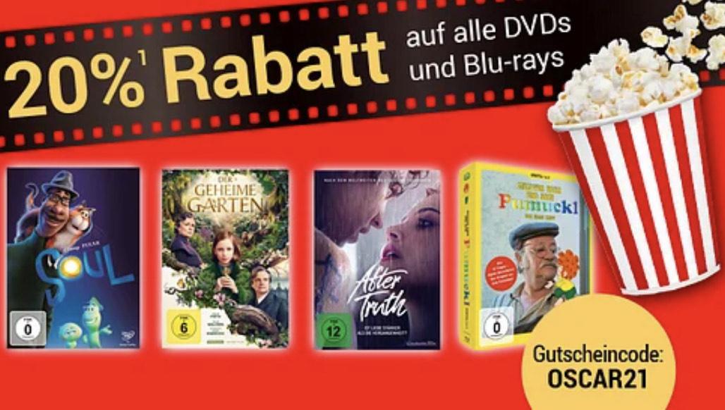 Weltbild   20% Rabatt auf alle DVDs & Blu-rays!