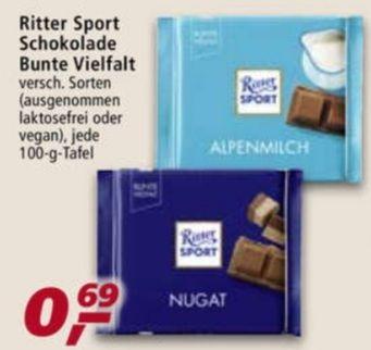 Ritter Sport Schokolade 100 g Bunte Vielfalt verschiedene Sorten ab 26.04 Real