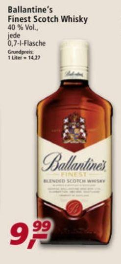 Ballantine's Finest Scotch Wisky 40% 0,7 l UND Havana Club Rum 3 Jahre 40% 0,7 l für 10,99€ statt 13,90€ ab 26.04 Real
