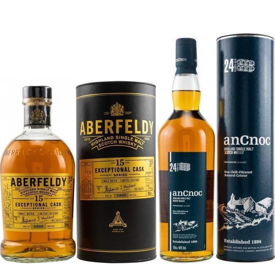 Whisky-Übersicht #86: z.B. Aberfeldy 15 Jahre Exceptional Cask Series für 61,45€, AnCnoc 24 Highland Single Malt für 102,35€ inkl. Versand