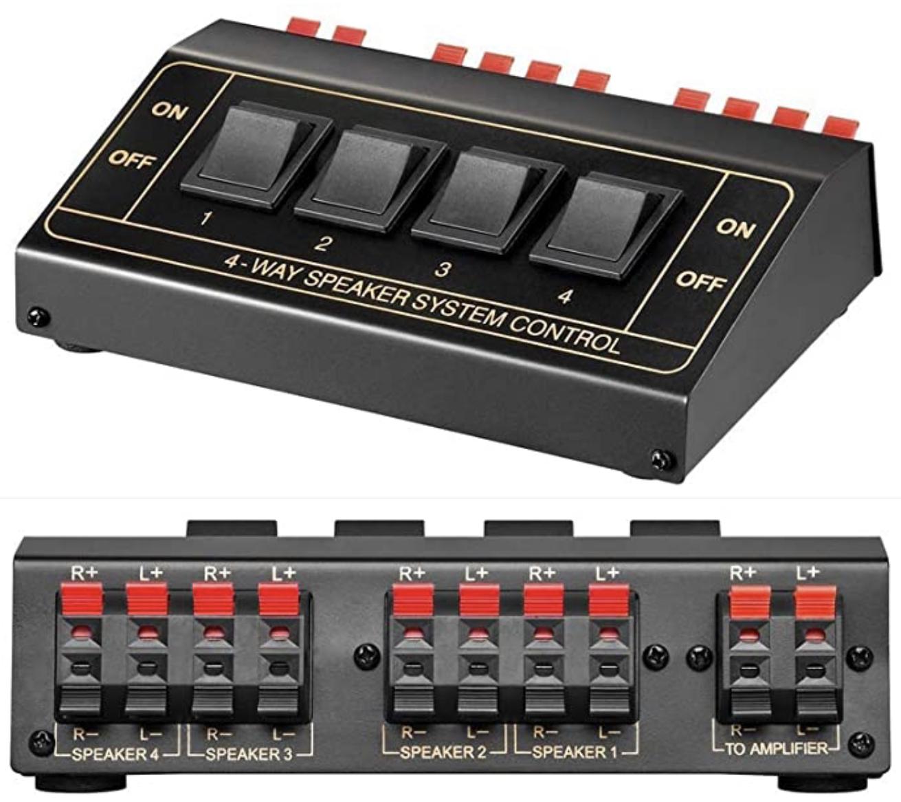 Goobay 60928 Lautsprecher Umschaltbox für 2 Lautsprecherpaare für 6,99€ / bis zu 4 Lautsprecherpaare 11934 für 7,49€ mit Prime