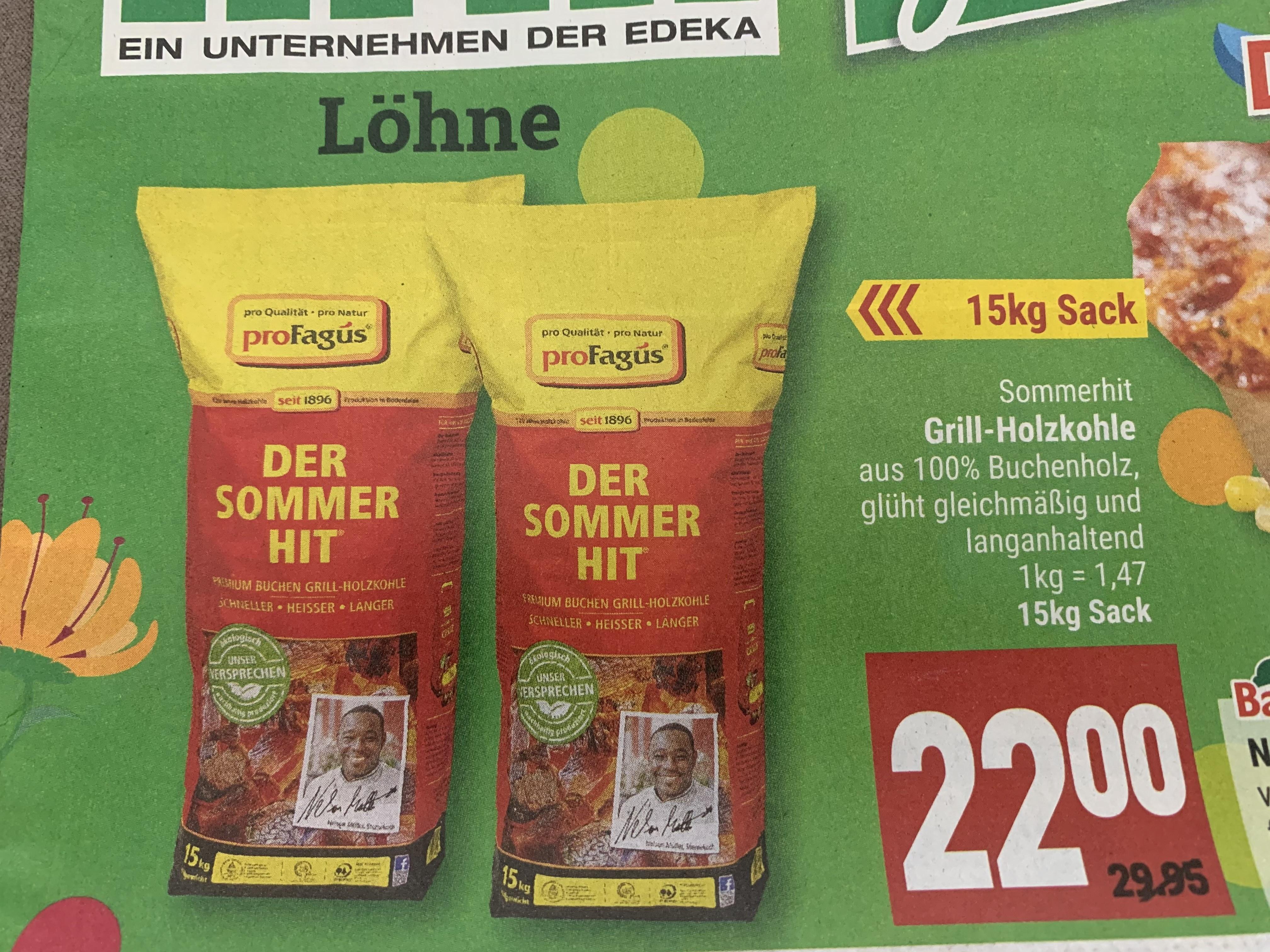 ProFagus Holzkohle Sommerhit Marktkauf Minden GmbH
