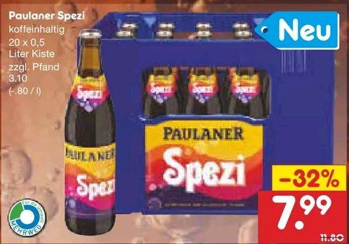 [Netto MD] Paulaner Spezi mit Coupon für 6,39€ (+ DeutschlandCard Punkte)