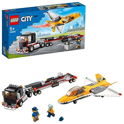 [amazon   prime] LEGO 60289 City Flugshow-Jet-Transporter Truck Spielzeug mit Anhänger und Jet-Flugzeug