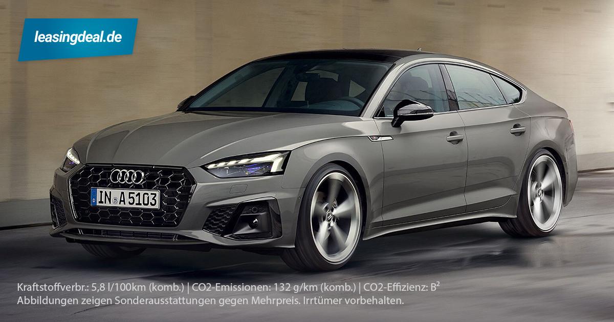 (Privatkunden) Audi A5 Sportback S-Line | 48 Monate, 331€, 10tkm, 725€ ÜF, 35 TFSI (150PS), Schaltwagen, LF 0,8