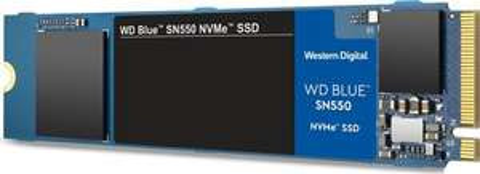 WD Blue SN550 2TB M.2 NVMe SSD (3D TLC, DRAMless, bis R2600/W1800, 5 Jahre Garantie)