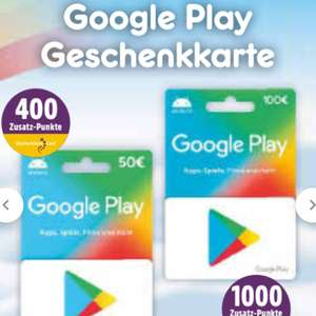 [netto MD] 400 Punkte für 50€ Google Play Guthaben / 1000 Punkte für 100€ (Deutschlandcard)